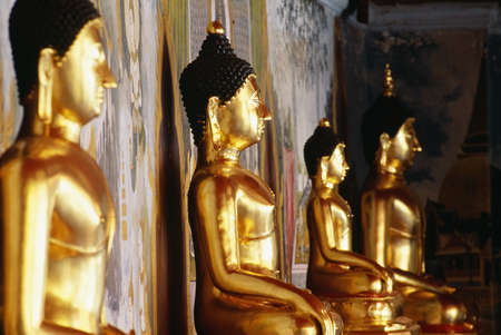 Row of Buddhas at Wat Phra That Doi Suthep temple in Thailand   Stock Photo
