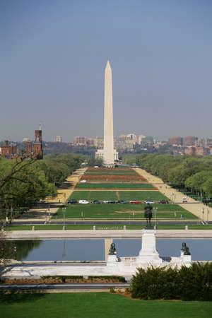 high angles: National Mall Washington monument in Washington, DC, USA   Stock Photo