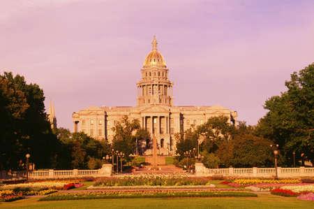 denver parks: Colorado State Capitol Building, Denver, Colorado, USA Stock Photo