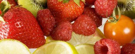 panoramics: Detail of fruit Stock Photo