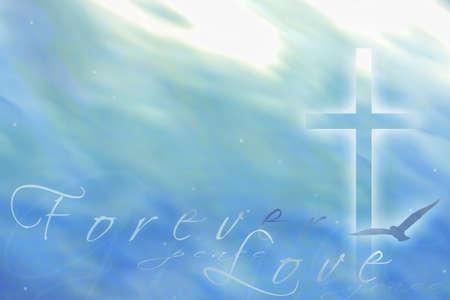 pasqua cristiana: Forever love illustrazione generati dal computer Archivio Fotografico