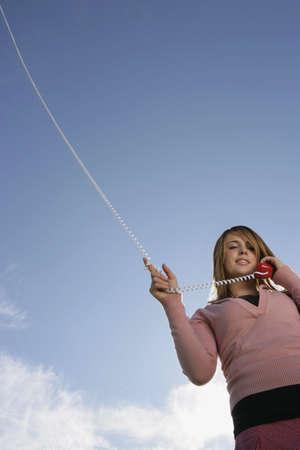 Woman talking on phone Stock Photo - 7206759