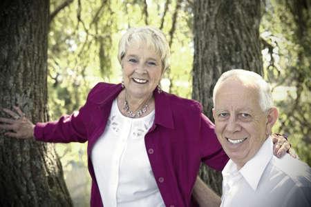 Portrait of a senior couple photo