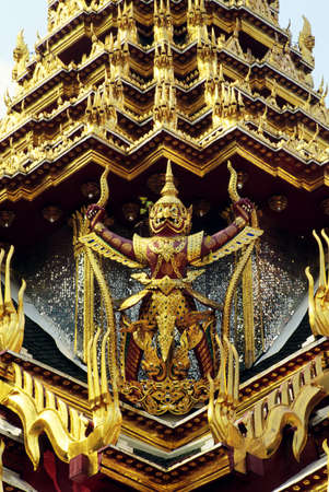 belief system: Architectural detail of The Grand Palace, Bangkok, Thailand Stock Photo