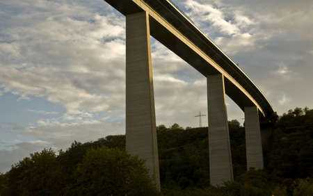 The Autobahn valley bridge, Germany Stockfoto