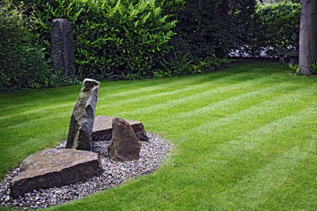 Landscaping in a garden in England