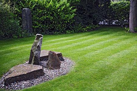Landscaping in een tuin in Engeland