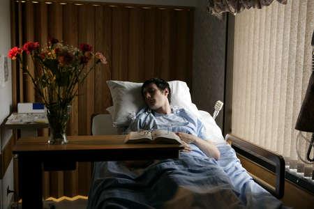 Pacjent: Mężczyzna w łóżko