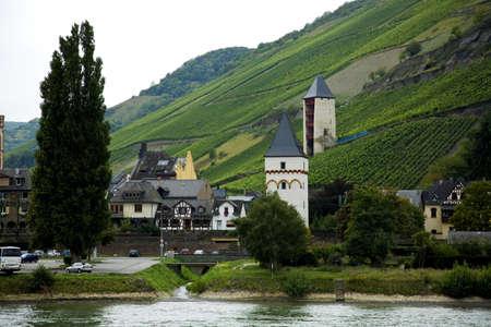 Historic church on the Rhine river, Germany Stock Photo - 7207523