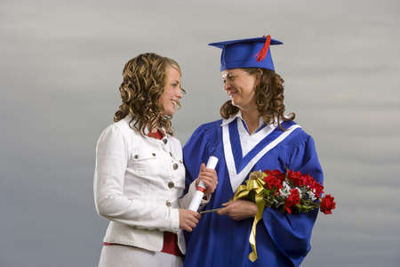Graduate and friend photo