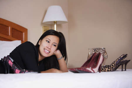 glubish: Woman enjoying her shoes