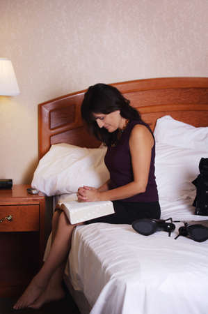 intercessory prayer: Woman praying