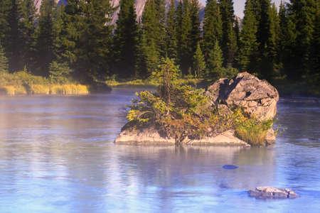 carson ganci: Scenic mountain river Stock Photo