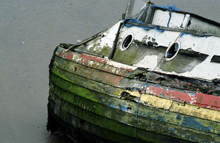 Abandoned boat Banco de Imagens