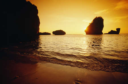 seascapes: Sunset at Ko Phi Phi Island   Stock Photo