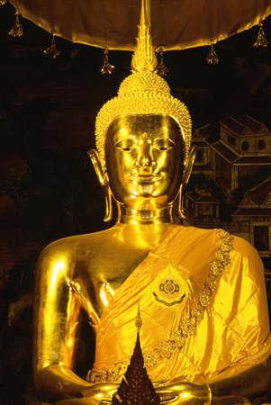 idolatry: Golden Buddha, Wat Po Temple   Stock Photo