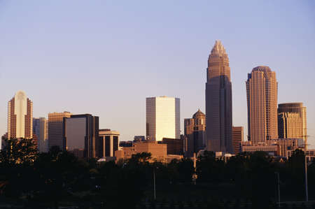 charlotte: Cityscape of downtown Charlotte, North Carolina, USA