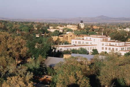 fe: Overview of Santa Fe, New Mexico, USA Stock Photo