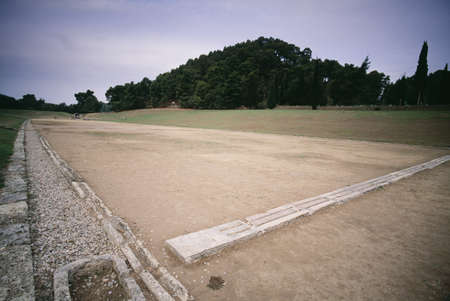 Starting line, the first sports competition Stadium, Olympia, Greece