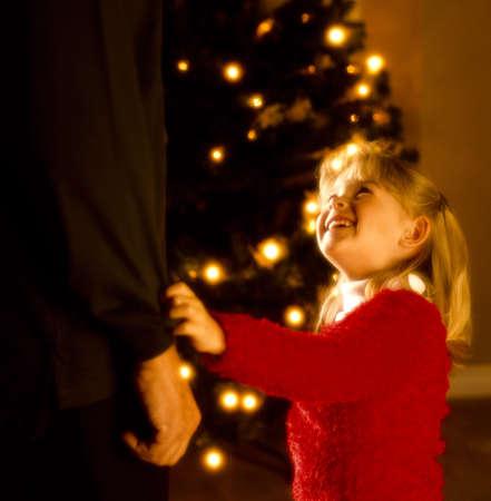 happy christmas: A girl at Christmastime