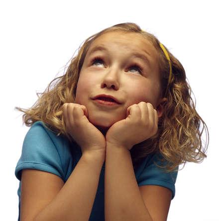 Una niña looking up  Foto de archivo - 7207028