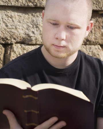 Man reading Bible Stock Photo - 7205762