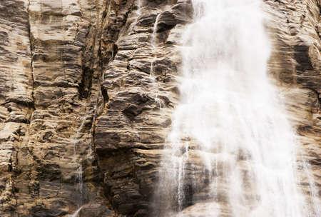 sepias: Waterfall in Jasper, Alberta, Canada Stock Photo