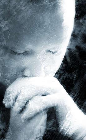 intercessory prayer: A man praying
