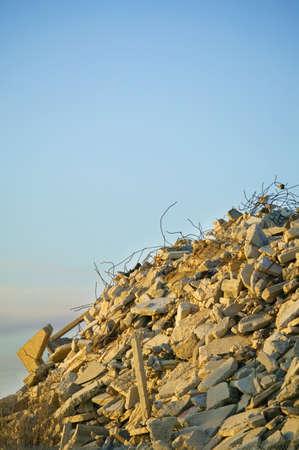 rubble: Pile of rubble Stock Photo