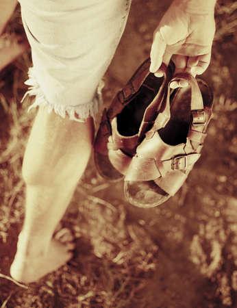 sepias: Walking barefoot