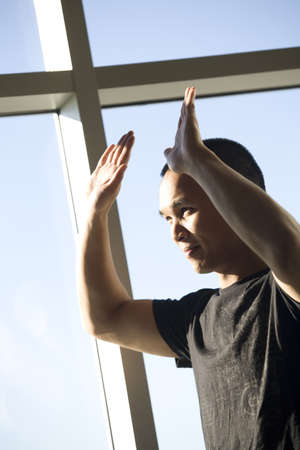 Man with his hands raised Stock Photo - 7205884