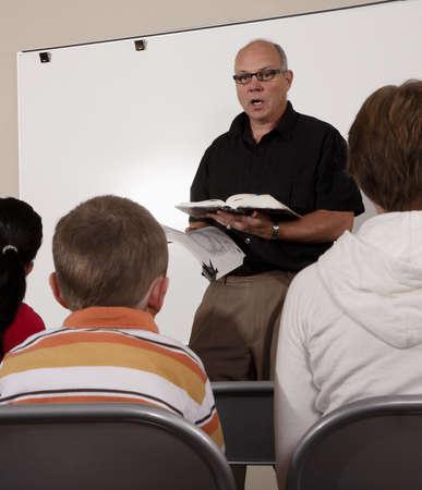 Man teaching students Stock Photo - 7206590