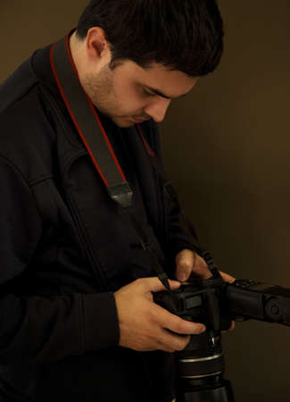 Man with a camera Stock Photo - 7207283