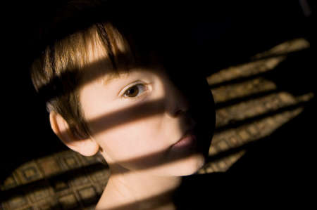 fear: Child looking sad