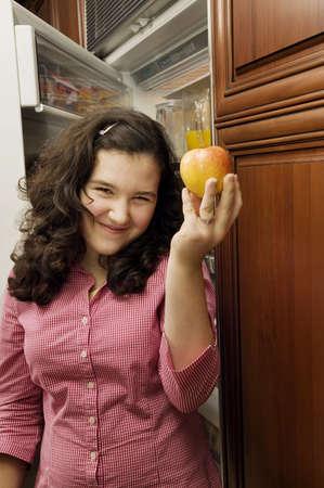 succeeding: Girl with an apple