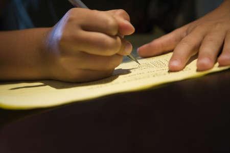 Child writing photo