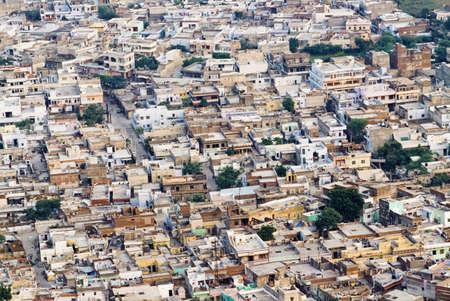 Aerial view of houses, Jaipur, Rajasthan, India