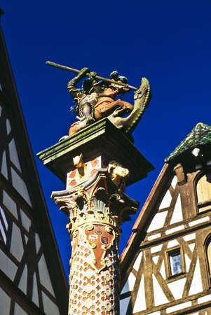 Statue in Rothenburg ob der Tauber, Romantic Road, Germany photo