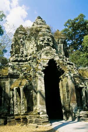 thom: North Gate, Angkor Thom, Cambodia