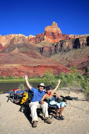 bonne aventure: Touristes à la gorge, Arizona, États-Unis