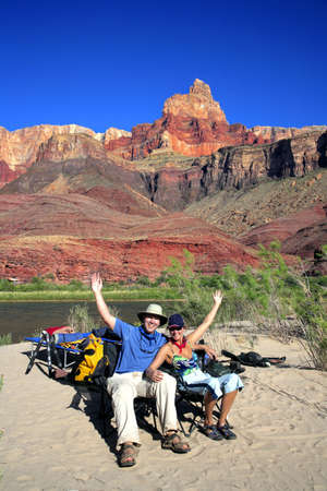 camper: Tourists at the Grand Canyon, Arizona, USA
