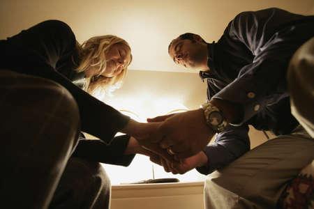praying together: Praying couple