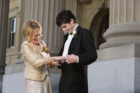 adulthood: Groom with his mother