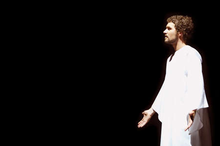 out of production: Man portraying Jesus