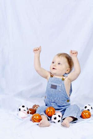 basketballs: Portrait of a baby boy Stock Photo