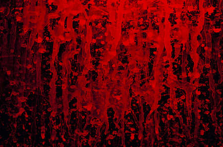 pained: Red streaks