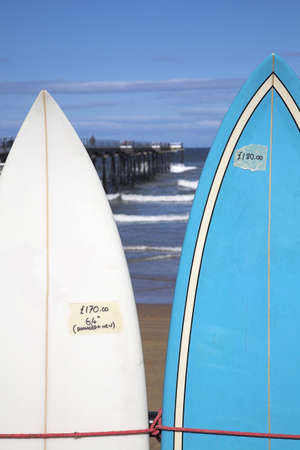 Surfboards for sale,Saltburn-by-the-Sea,North Yorkshire,UK