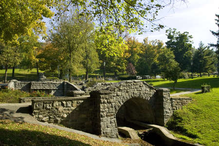 Stone bridge in Tarrytown,New York,USA 免版税图像