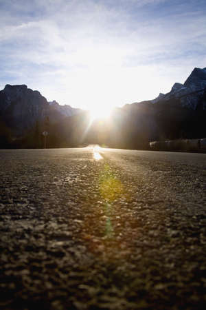 A road in Canmore,Alberta,Canada photo
