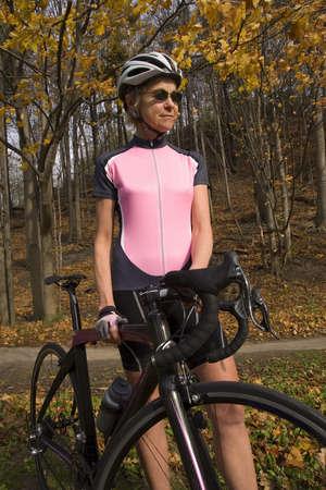 Cyclist on recreational trail  photo